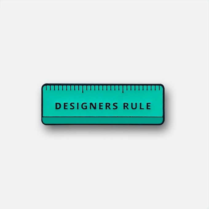 Twogirls.co 'Designers Rule' exclusive enamel pin