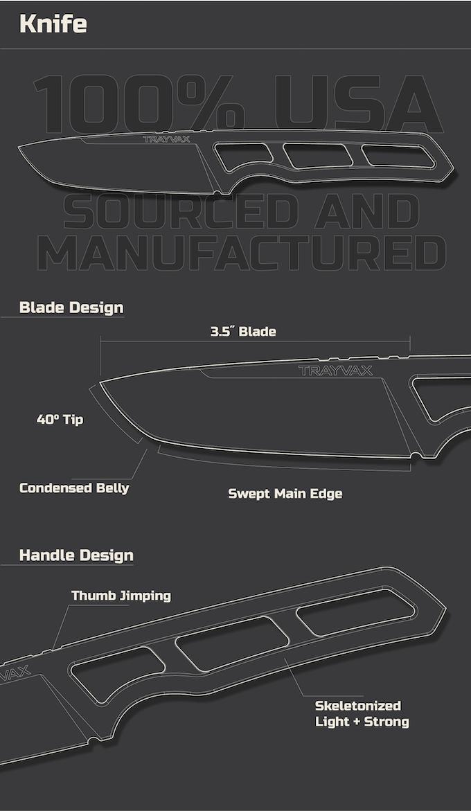 Exterior: Trayvax Trek Field Knife By Trayvax Enterprises
