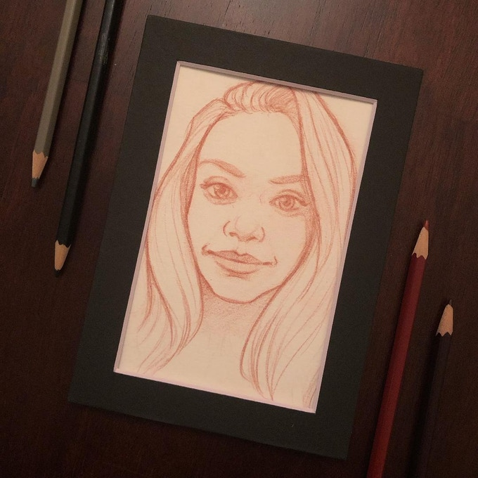 "LIMITED! ""Heartlines"" reward includes a 5"" x 7"" pencil sketch portrait of any subject you choose, by artist Rachel Perciphone."