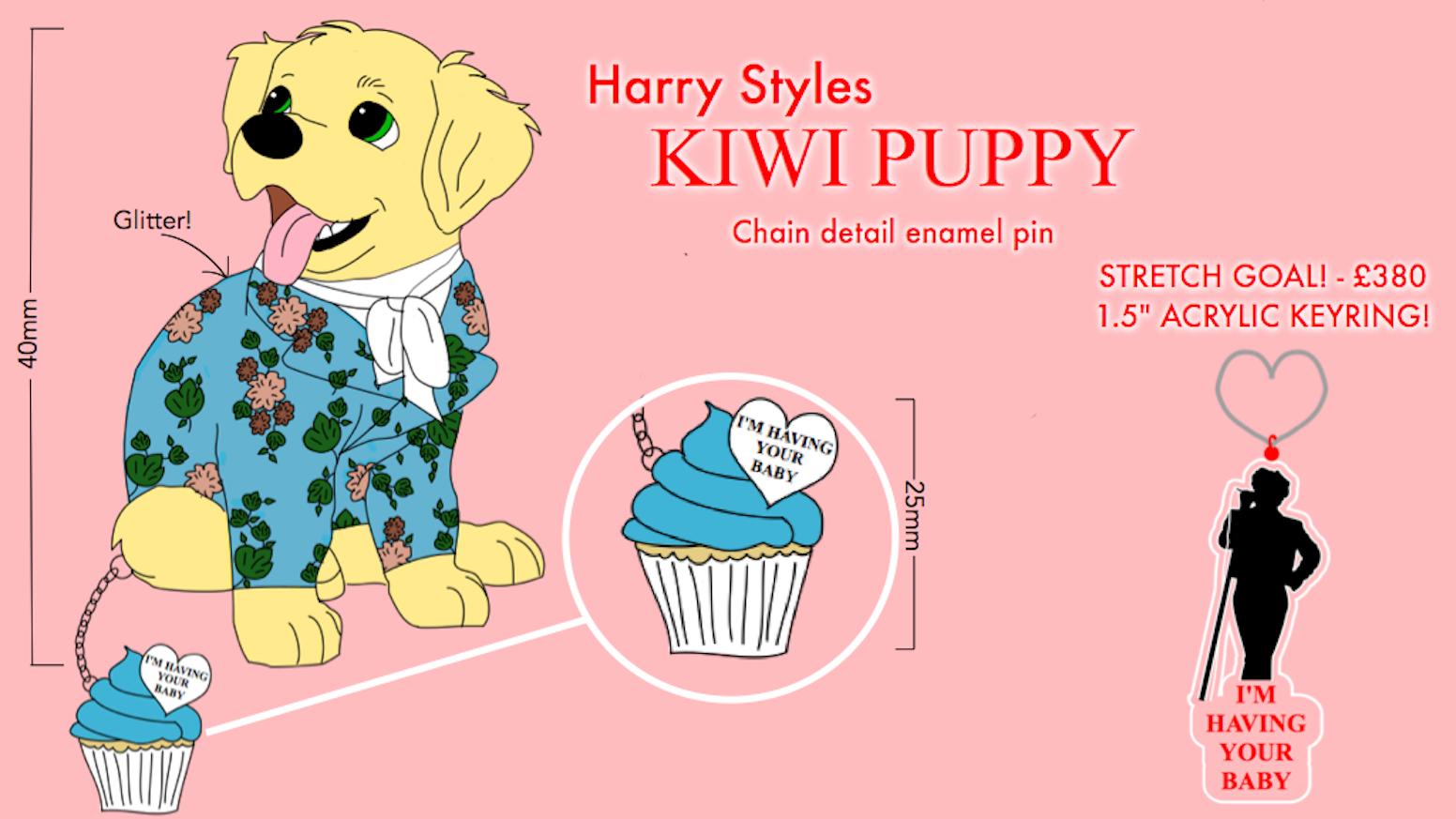 b4ee6c10aacd Harry Styles Kiwi Puppy Enamel Pin by A Little Bit Of Sparkle ...