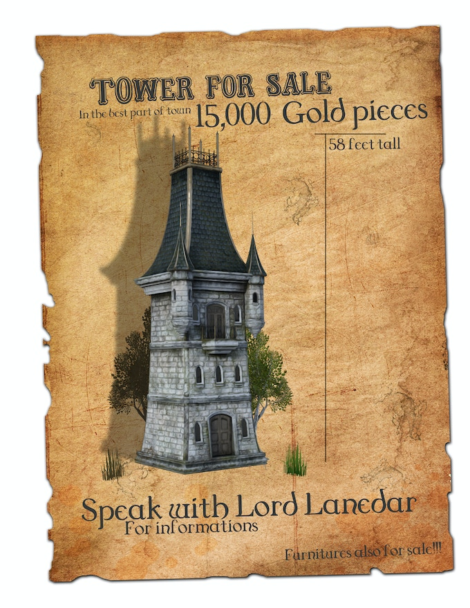 Plan sketch tower for sale