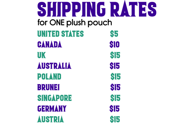 Please contact us if you do not see the shipping rate for your country of residence listed above.