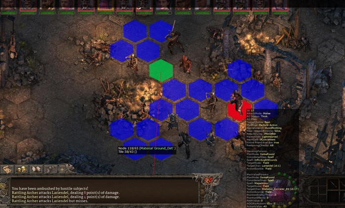 Combat AI Debug Visualization in Realms Beyond