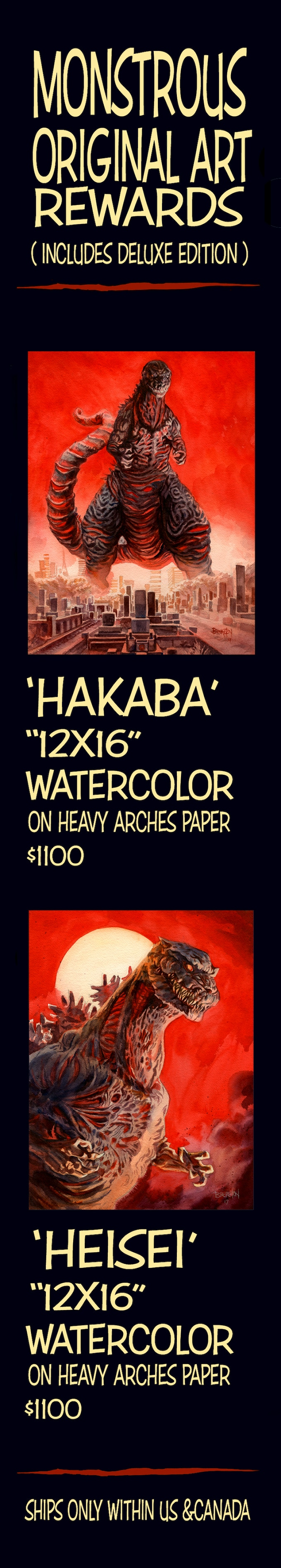 """""""12X16"""" hand-painted watercolor art rewards on heavy Arches watercolor block paper."""