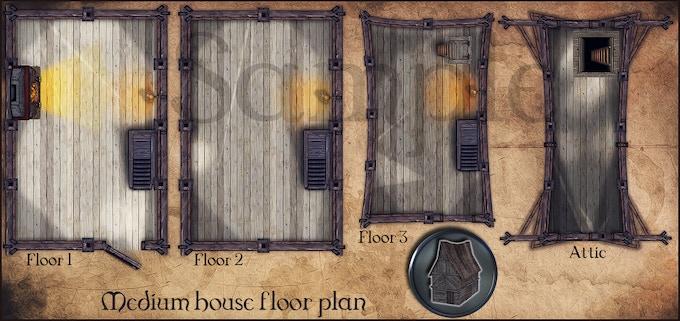 Medium house floor plan empty house for you to create