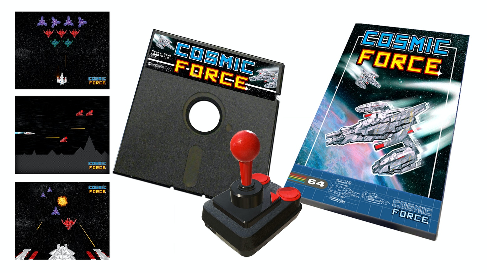 COSMIC FORCE - C64 Retro Shoot 'Em Up by WavemStudios — Kickstarter