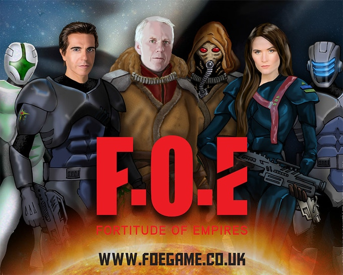 Just a few of the characters in FOE, drawn by Martin at Creative Wisdom