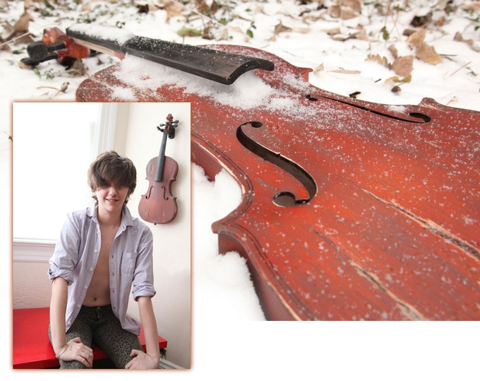 This is what the viola in the $500 premium will look like. Each one is custom made by Sam. In the photo: Mercy West. : )