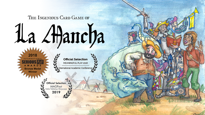La Mancha is a storytelling card game based on Miguel de Cervantes' classic 1605 novel, Don Quixote.
