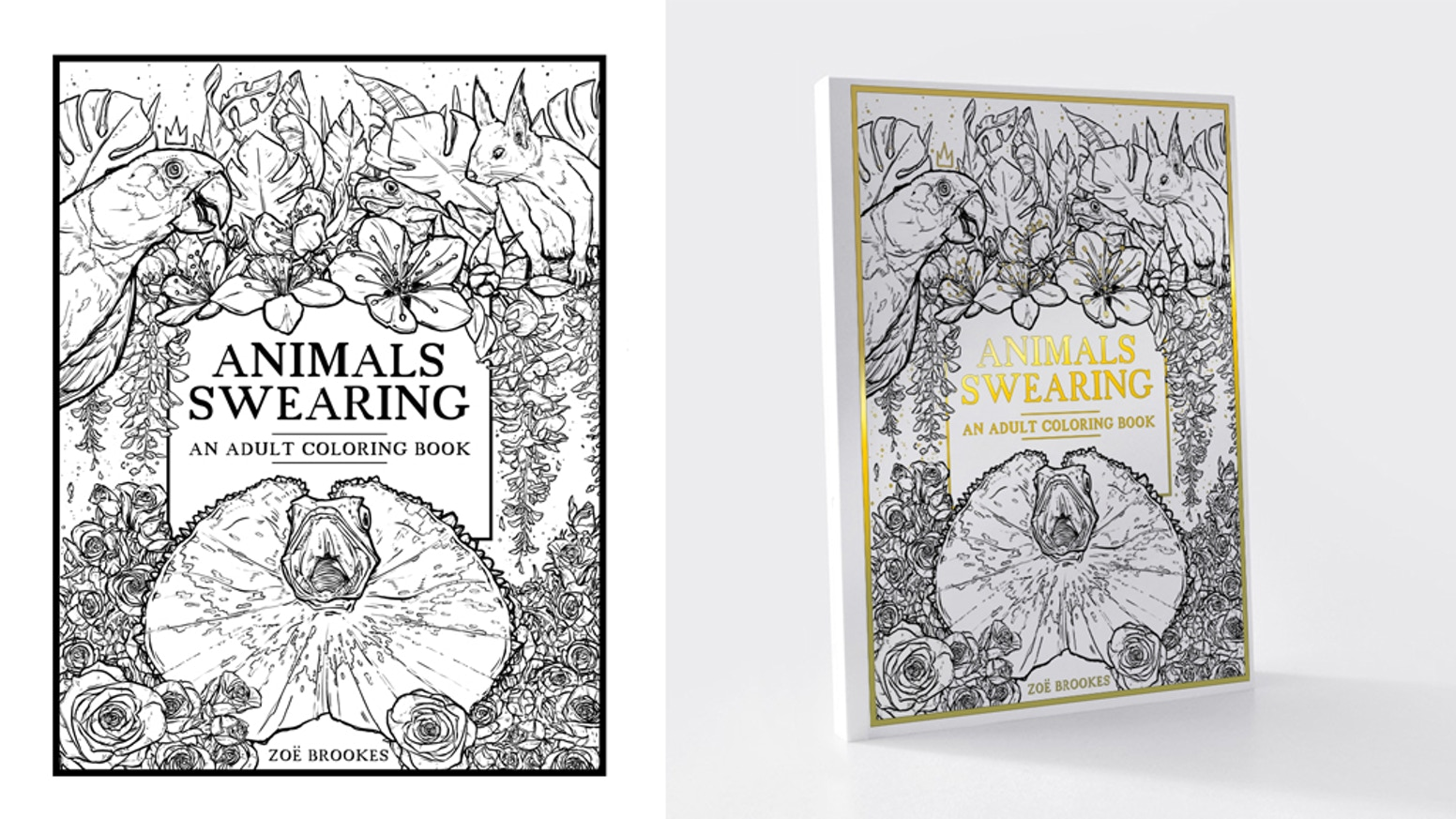Animals Swearing: The Adult Coloring Book by Zoe » Polished ...