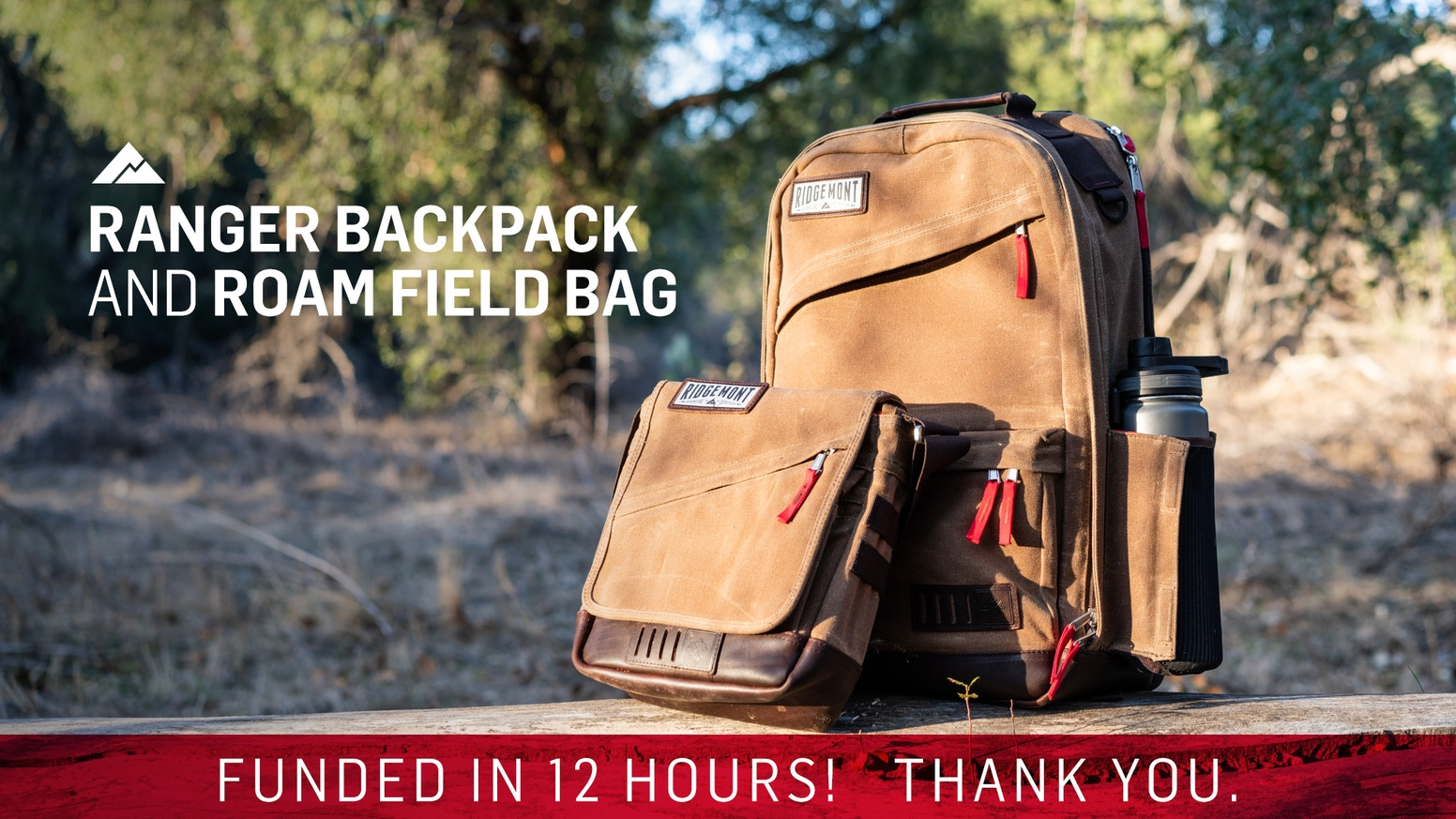 Backpack and field bag expertly crafted from waxed canvas and oiled leather.