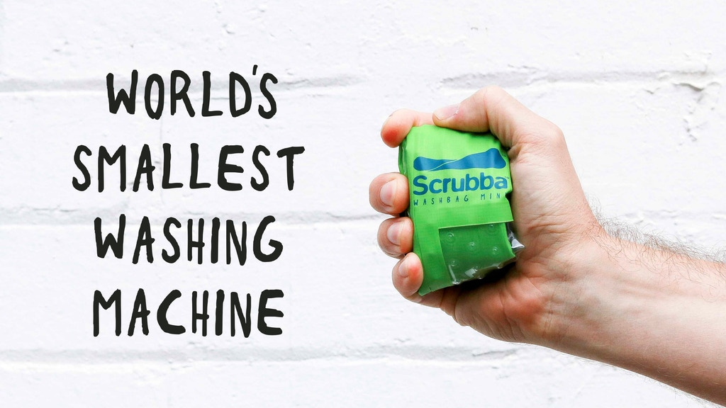 Scrubba wash bag MINI: An unbelievably small washing machine project video thumbnail