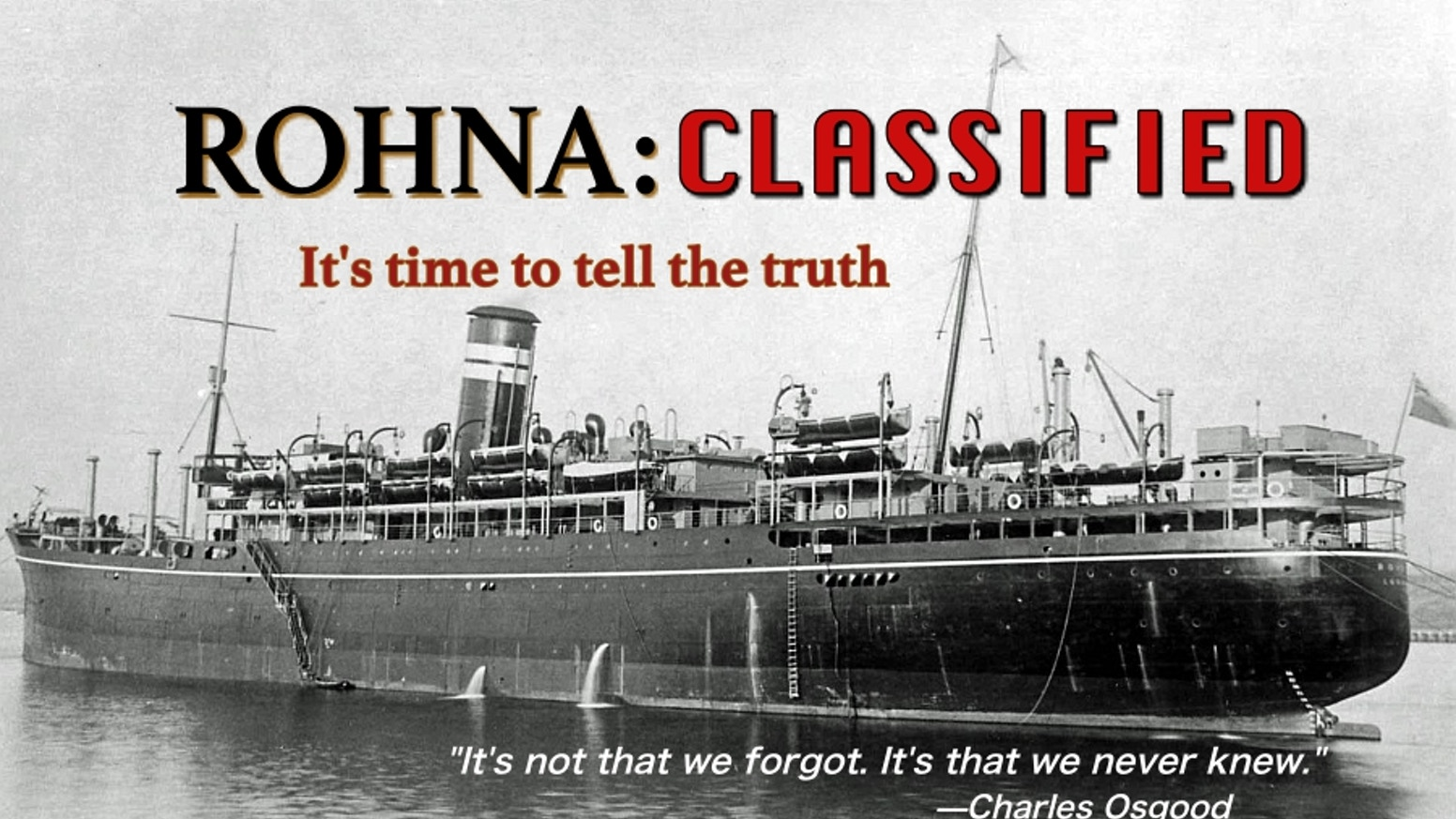 We reached our goal and are continuing to work hard on the Rohna: Classified WWII documentary! If you would still like to support this film, please click Donate. It will take you to the Donate Page on our website. THANK YOU! -The Rohna Classified team