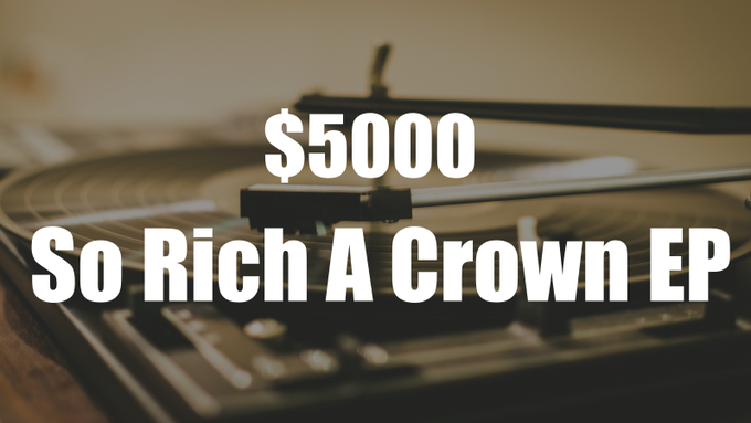 At this milestone, I'll give away an extra 4 song EP, titled So Rich A Crown, to all backers already receiving Love & Sorrow Meet.