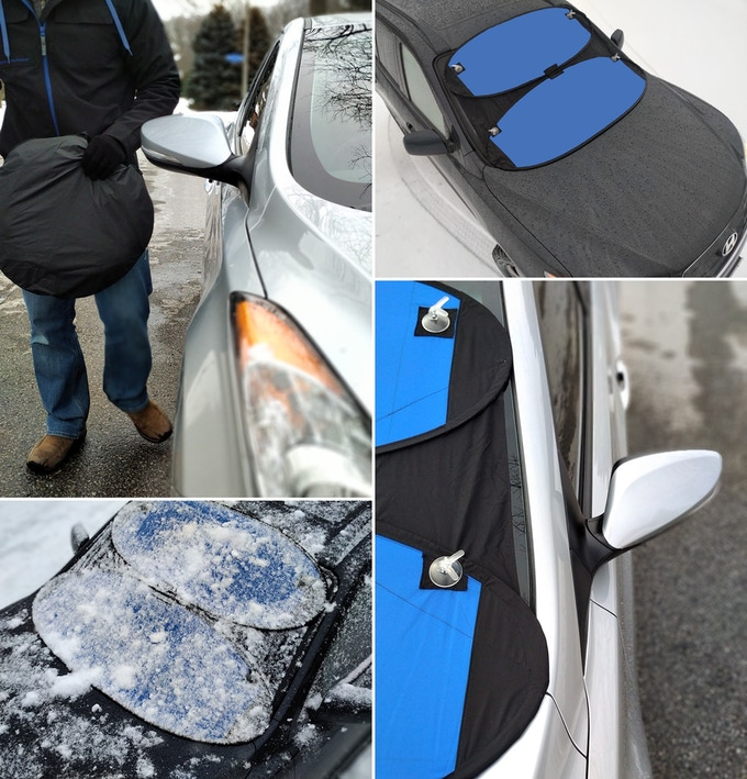 Protects your windshield against frost, freezing rain and snow
