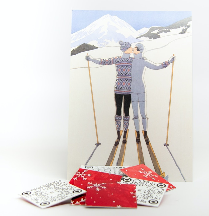 Winter Themed CardFilm Cutouts (front and back pictured)