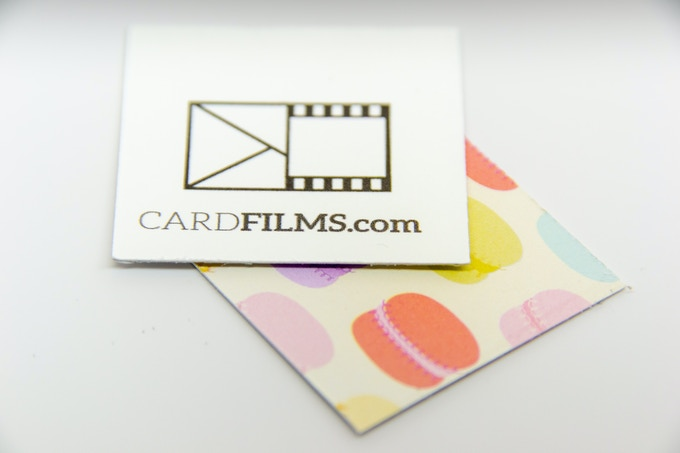 Back of CardFilm Sticker (top) Macaroon CardFilm Cutout (bottom)