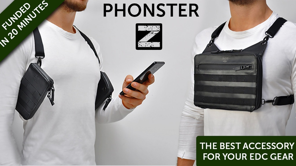 Phonster Z - Ultimate leather Phone Holster for EDC items