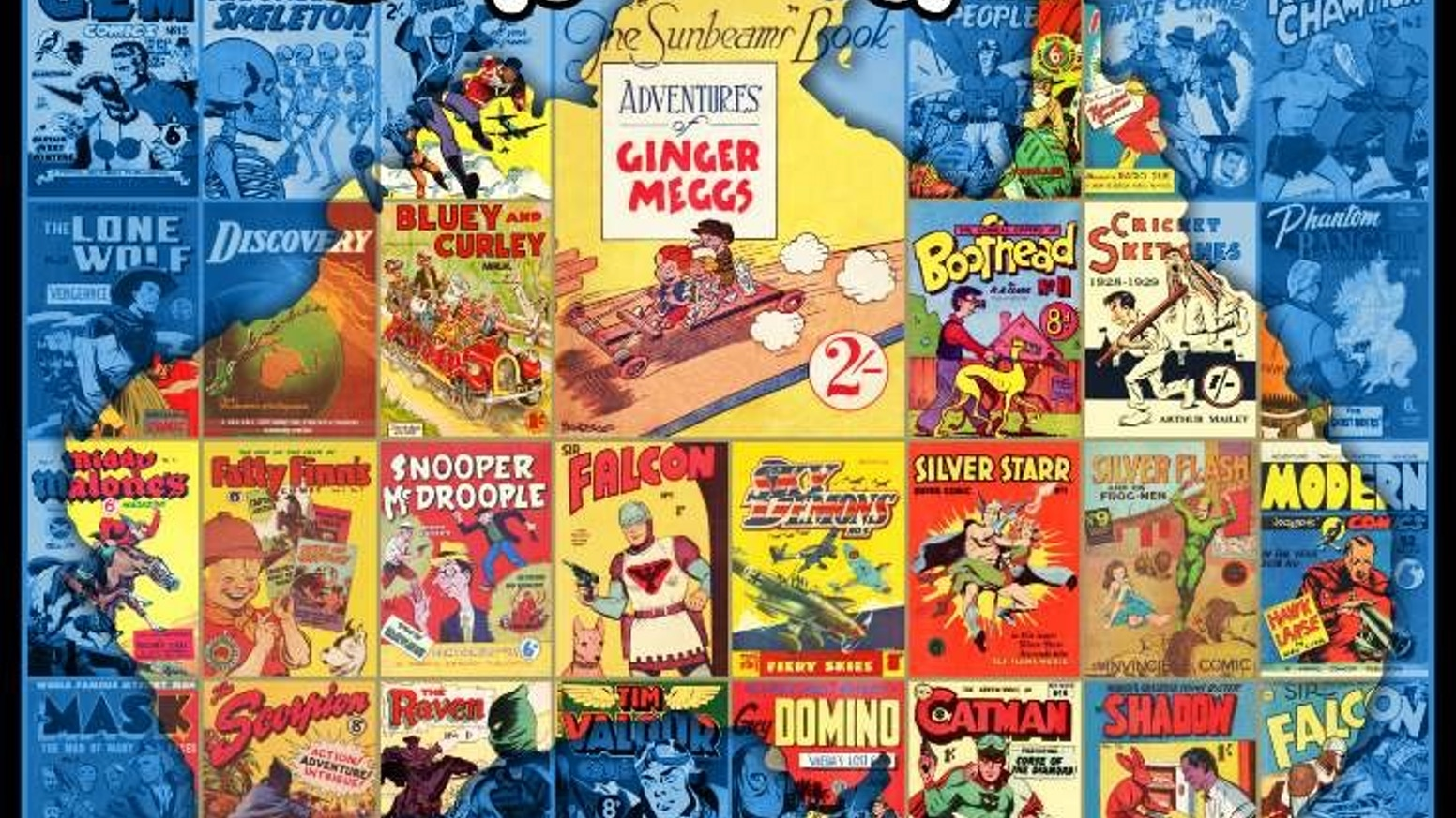 THE DEFINITIVE history of Australian comic books, from 1924 to 1965 (Please click on the blue strip)