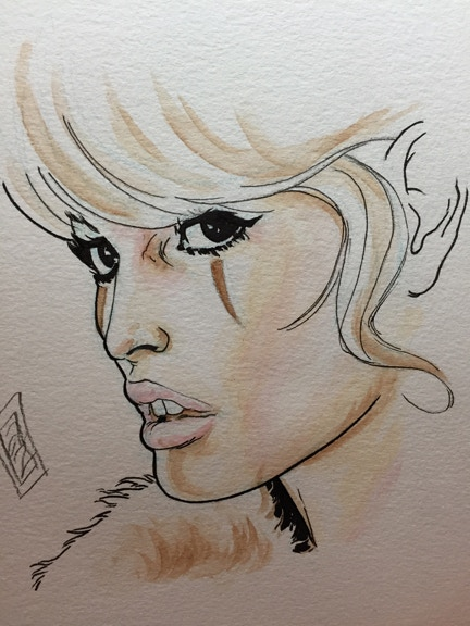 """LIMITED! """"Little Less Conversation"""" reward includes 8 x 10  character headshot of your choice, by artist Aaron Allen."""