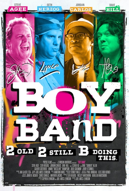 A musical comedy movie about a Boy Band that's gotten older but hasn't grown up made locally in Dayton, Ohio by the Levinson Brothers.