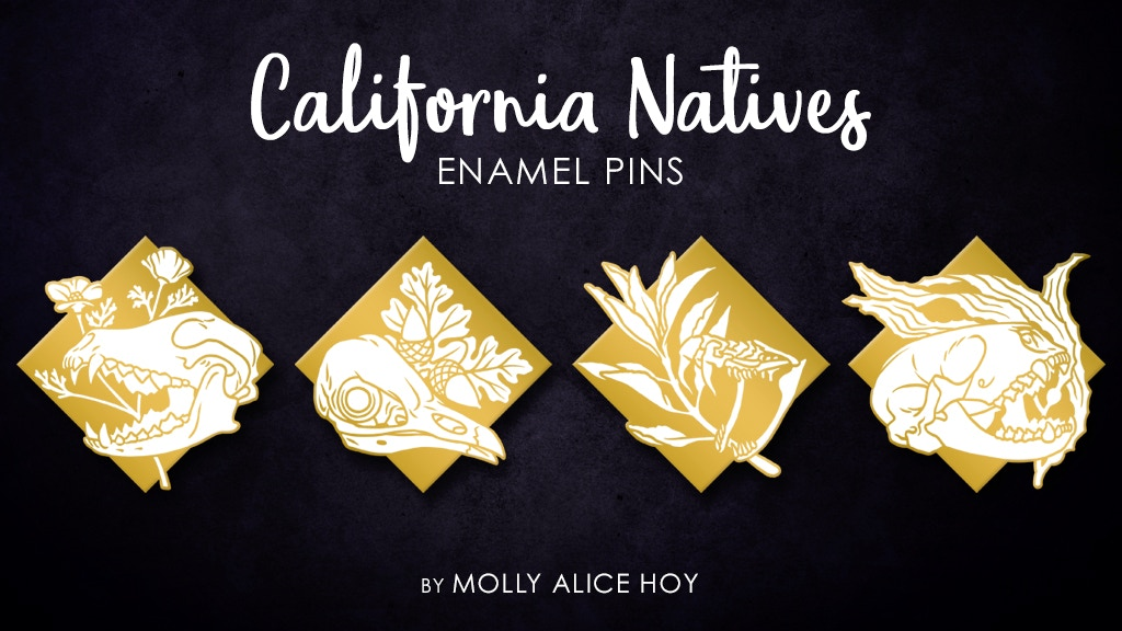 Project image for California Natives Enamel Pins (Canceled)