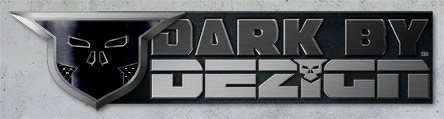"DARK BY DEZIGN Company Logo. We're not really all that ""dark"", silly!"