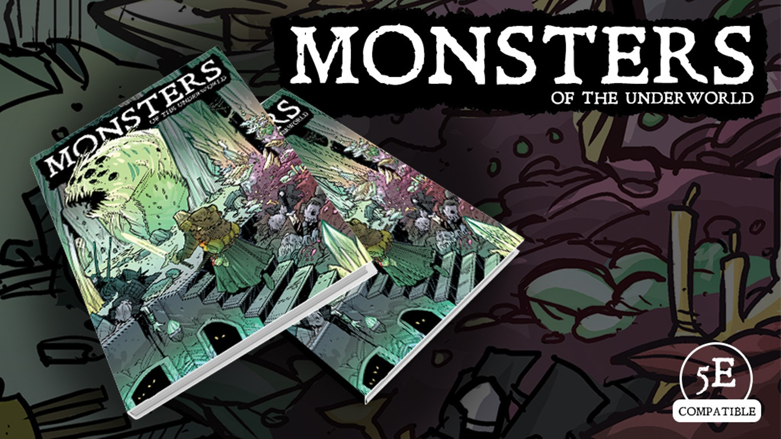 Only the bravest walk into the dark... Discover 110 new monsters. A full-color, hardcover 5th Edition book.