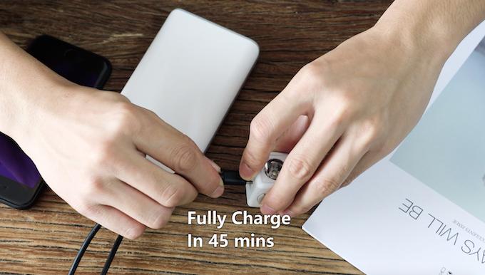 Bulit-in USB Type C charging port