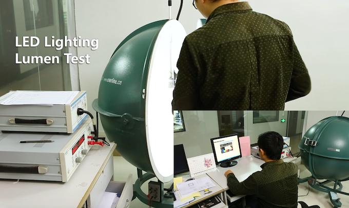 Professional Test for LED Brightness of Prototype Sample