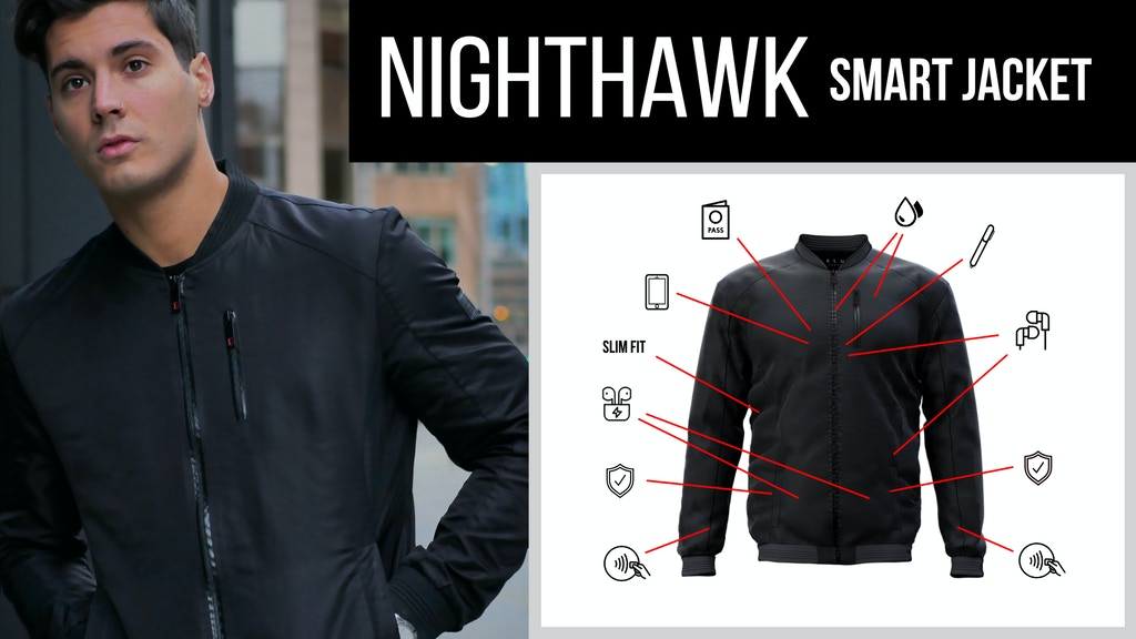 NIGHTHAWK: Perfectly Fitted Multi-Functional Bomber Jacket
