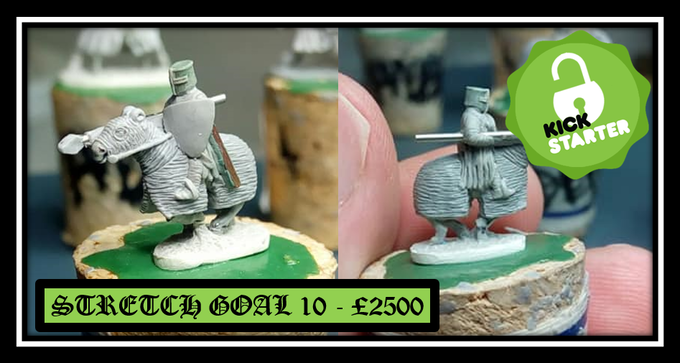 Unlocked stretch goal 10 - Mounted Knight charging lance Armored steed