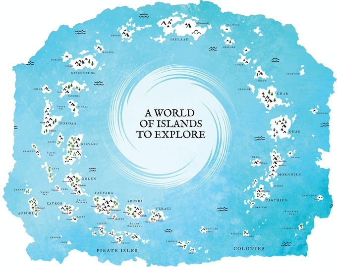 Prototype of Seas of Vodari Map