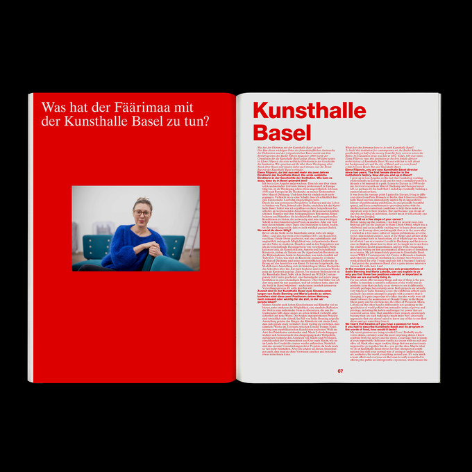 +41 Publikation – Kunsthalle Basel Interview