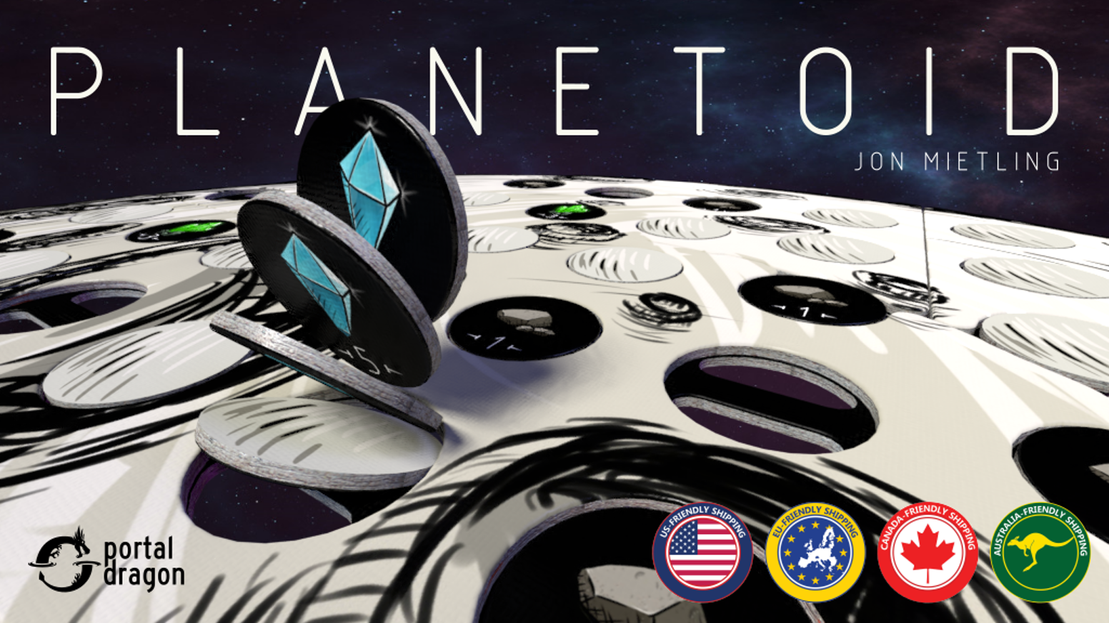 Scan the planetoid, drill high-value resources and gain bonuses in this quick-playing, 1-4 player game.