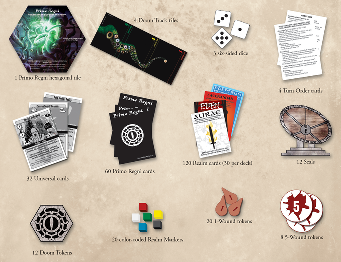 Base components pictured.  See stretch goals and photos below for premium components.