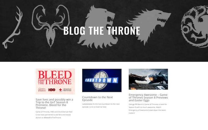 Blog the Throne