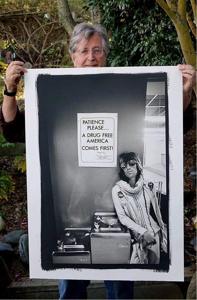 "30x40 Platinum Print ""Keith Richards 'Patience Please' 1972"