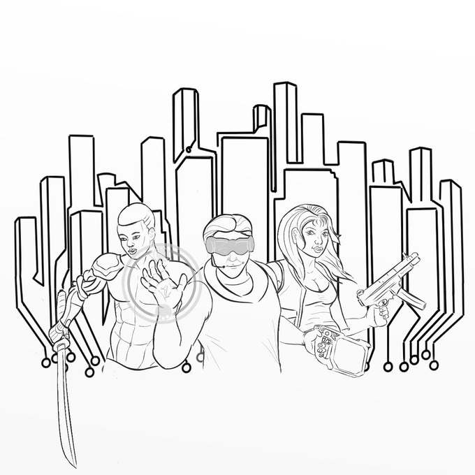 Preliminary Issue 1 cover illustration by Kelly Ness