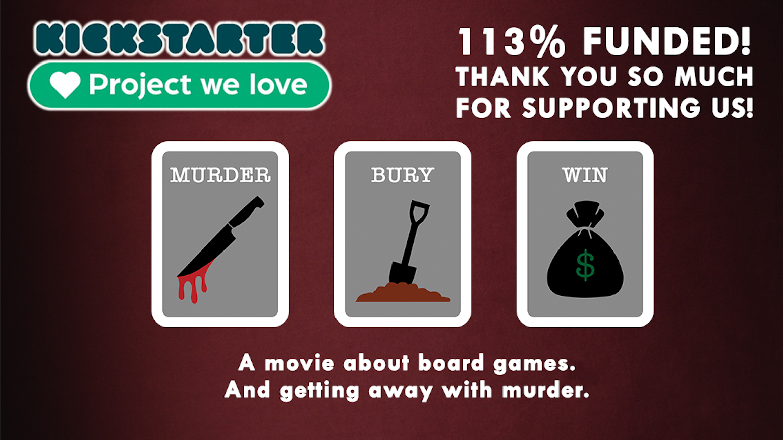 Watch the trailer, then help us fund post on this dark comedic thriller about board games.