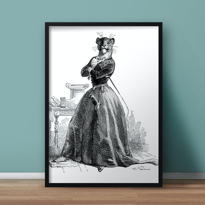 POSTER ART PRINT 50X70CM ON 200G MATTE ARCHIVAL PAPER IN MUSEUM QUALITY