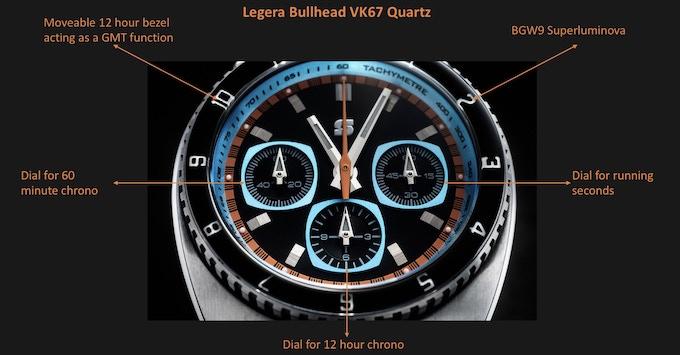 Legera Bullhead VK67 dial layout