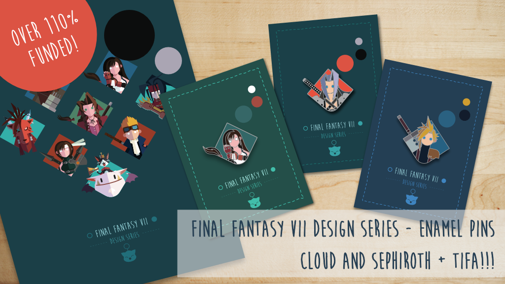FFVII Design Series: An enamel pin tribute to a classic RPG project video thumbnail