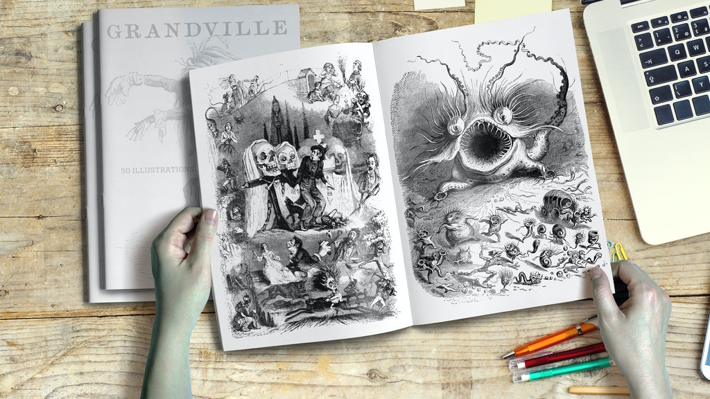 GRANDVILLE'S SURREAL ILLUSTRATIONS / BOOK EDITION + PRINT