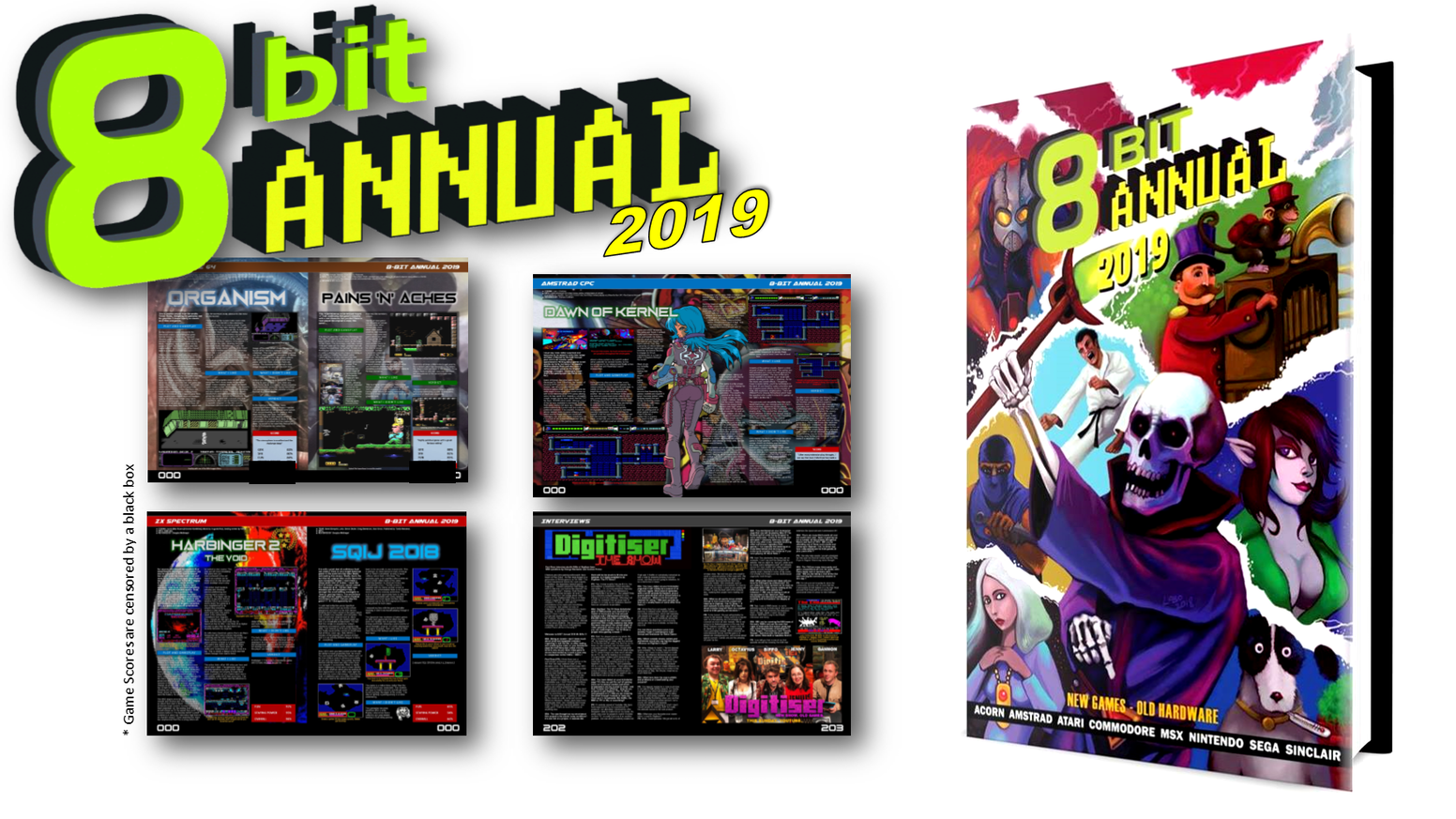8-Bit Annual 2019 is the second printed annual from the 8 Bit Annual team, covering the latest games for retro computers and consoles.