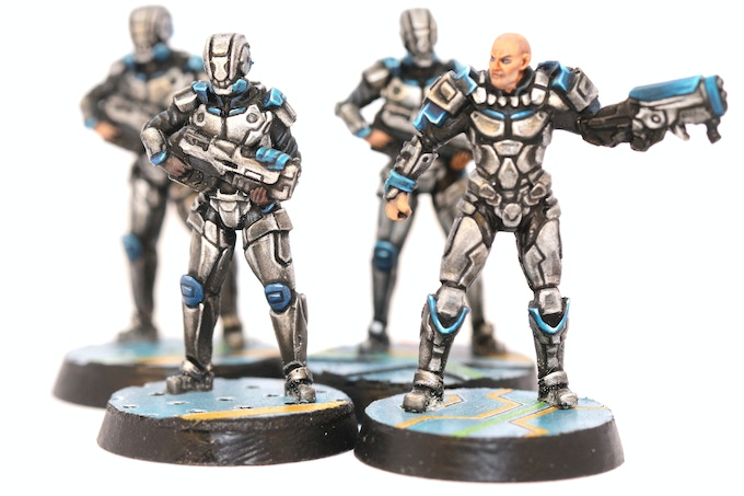 Smertios Security Soldiers, painted by Charles Morris!