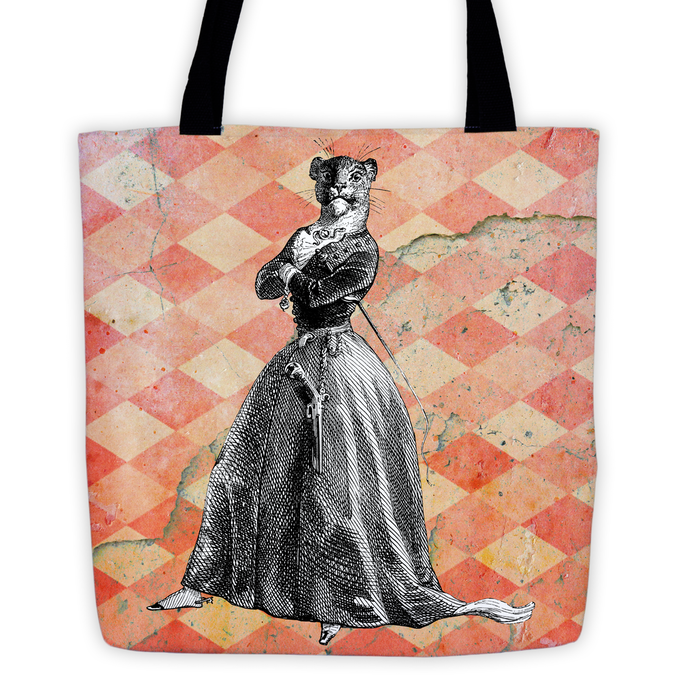 Tote Bag: Choose two different Animal Illustrations out of ten for front- and backside of your Tote!