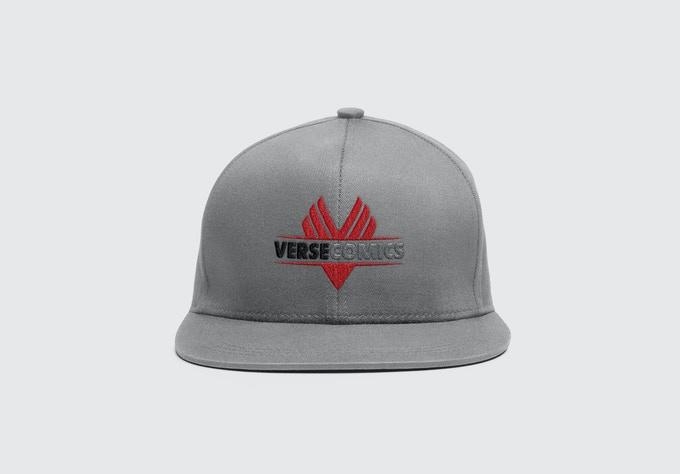 White Verse Comics hat being offered as a reward. (Hat is a mock up.  Final product may vary slightly from sample image shown.)