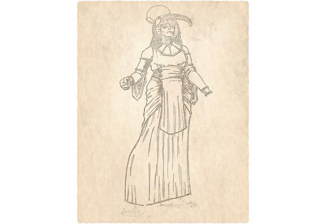 Adia Bomani - Leader of the Cult of Djehuti (Not Final Art)