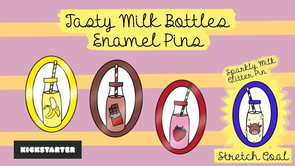 Project image for Tasty Milk Bottles Enamel Pins